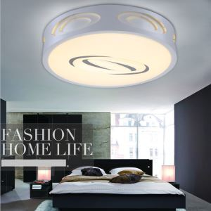 Modern Simple Fashion LED Dimmable Acrylic White Flush Mount Light Living Room Bedroom Study Room Dining Room Energy Saving