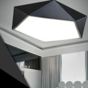 Modern Simple Creative LED Dimmable Acrylic Geometrical Flush Mount Light Living Room Bedroom Study Room Dining Room
