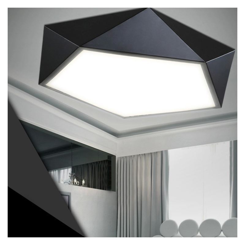 Modern Simple Creative LED Dimmable Acrylic Geometrical Flush Mount