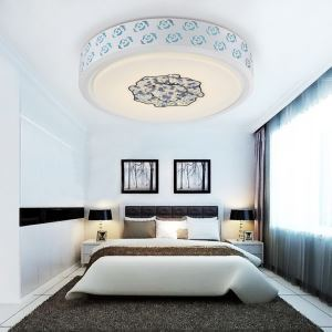 Modern Simple Fashion LED Dimmable Acrylic Round Flush Mount Light Living Room Bedroom Study Room Dining Room