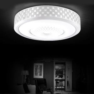 Modern Simple Fashion LED Dimmable Acrylic White Round Reticular Flush Mount Light Living Room Bedroom Study Room Dining Room Energy Saving
