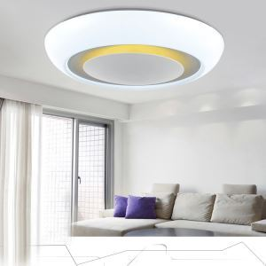 Modern Simple Creative LED Dimmable Acrylic White Round Flush Mount Light Living Room Bedroom Study Room Dining Room