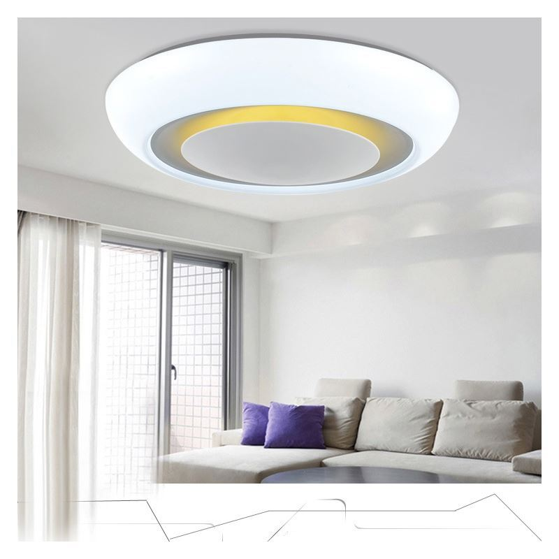 Modern Simple Creative LED Dimmable Acrylic White Round Flush Mount