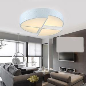 Modern Simple Creative LED Dimmable Acrylic White Flush Mount Light Living Room Bedroom Study Room Dining Room