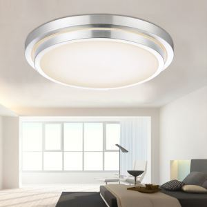 Modern Simple Fashion LED Dimmable Acrylic Double Border Round Flush Mount Light Living Room Bedroom Study Room Dining Room