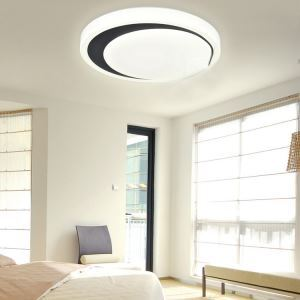 White Flush Mount LED Dimmable Light Living Room Bedroom Study Room Dining Room Energy Saving(Sunshine In My Sky)
