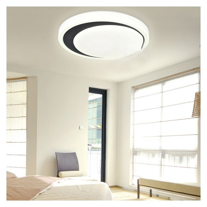 White Flush Mount Led Dimmable Light Living Room Bedroom