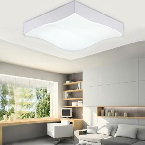 Modern Simple Fashion LED Dimmable Acrylic Square Flush Mount Light Living Room Bedroom Study Room Dining Room