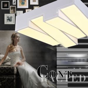Modern Simple Creative LED Dimmable Acrylic Piano Key Flush Mount Light Living Room Bedroom Study Room Dining Room