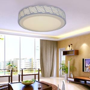 Modern Simple Fashion LED Dimmable Acrylic Round Hollow-out Flush Mount Light Living Room Bedroom Study Room Dining Room