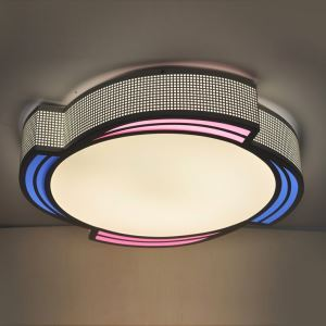 Modern Simple Fashion LED Dimmable Acrylic Colorful Windmill Flush Mount Light Living Room Bedroom Study Room Dining Room