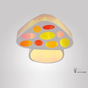 Modern Fashion Cartoon LED Dimmable Acrylic Mushroom Flush Mount Light Living Room Bedroom Study Room Dining Room
