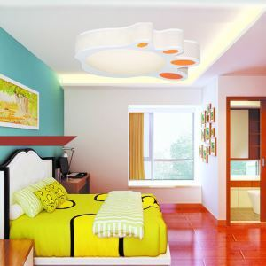 Modern Fashion Cartoon LED Dimmable Acrylic Footed Flush Mount Light Living Room Bedroom Study Room Dining Room