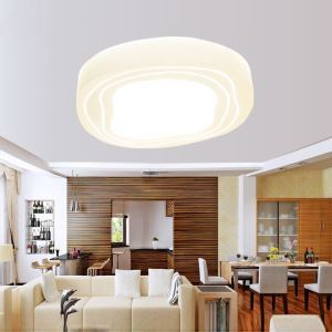 Modern Simple Fashion LED Dimmable Acrylic White Stone Flush Mount Light Living Room Bedroom Study Room Dining Room