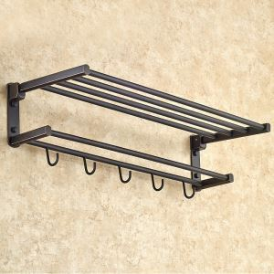 European Antique Bathroom Accessories Copper Foldable Towel Bar
