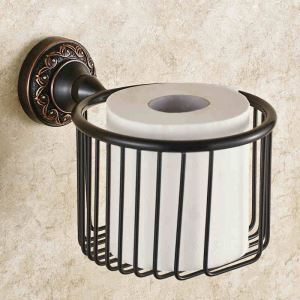 European Antique Bathroom Accessories Copper Engraving Toilet Roll Holders
