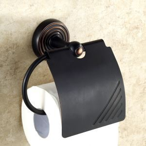 European Antique Bathroom Accessories Copper ORB Toilet Roll Holder