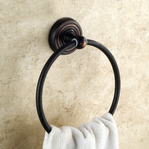 European Antique Bathroom Accessories Copper ORB Towel Ring