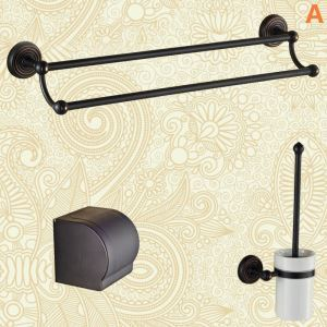 European Antique Bathroom Accessories Copper ORB Bathroom Accessory Set