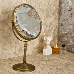 European Antique Bathroom Accessories Copper Make-up Mirror