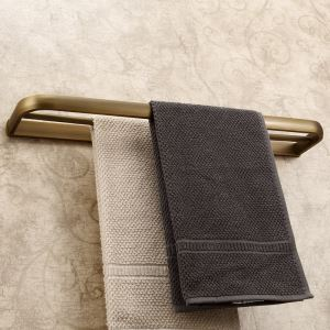 European Antique Bathroom Accessories Copper Double-layer Towel Bar