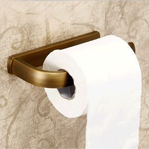 European Antique Bathroom Accessories Copper Toilet Roll Holder