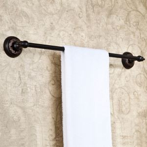 European Antique Bathroom Accessories Copper ORB Single-layer Towel Bar