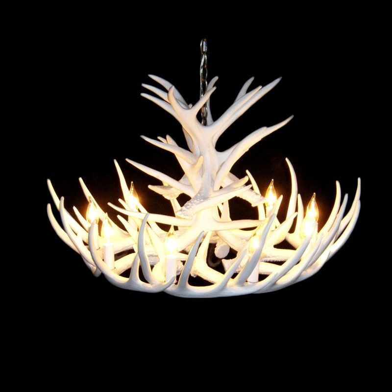 Rustic style cascade chandelier artistic antler chandelier antler rustic style cascade chandelier artistic antler chandelier antler lighting with 9 lights white dining room lighting mozeypictures Image collections