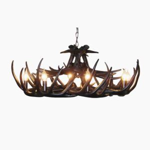 Rustic Style Cascade Chandelier Artistic Antler Chandelier Antler Lighting with 8 Lights Black Chandelier Dining Room Lighting Ideas Living Room Bedroom Lighting