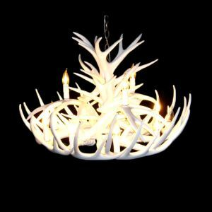 Rustic Style Cascade Chandelier Artistic Antler Chandelier Antler Lighting with 12 Lights White Dining Room Lighting Ideas Living Room Bedroom Lighting