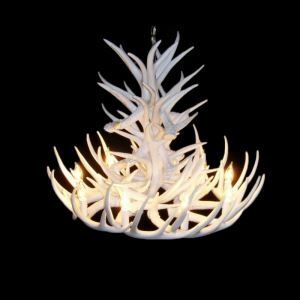 Rustic Style Cascade Chandelier Artistic Antler Chandelier Antler Lighting with 9 Lights White Dining Room Lighting Ideas Living Room Bedroom Lighting