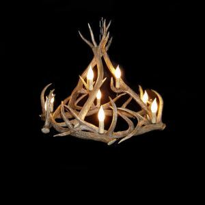 Rustic Style Cascade Chandelier Artistic Antler Chandelier Antler Lighting with 6 Lights Antler Color Dining Room Lighting Ideas Living Room Bedroom Lighting