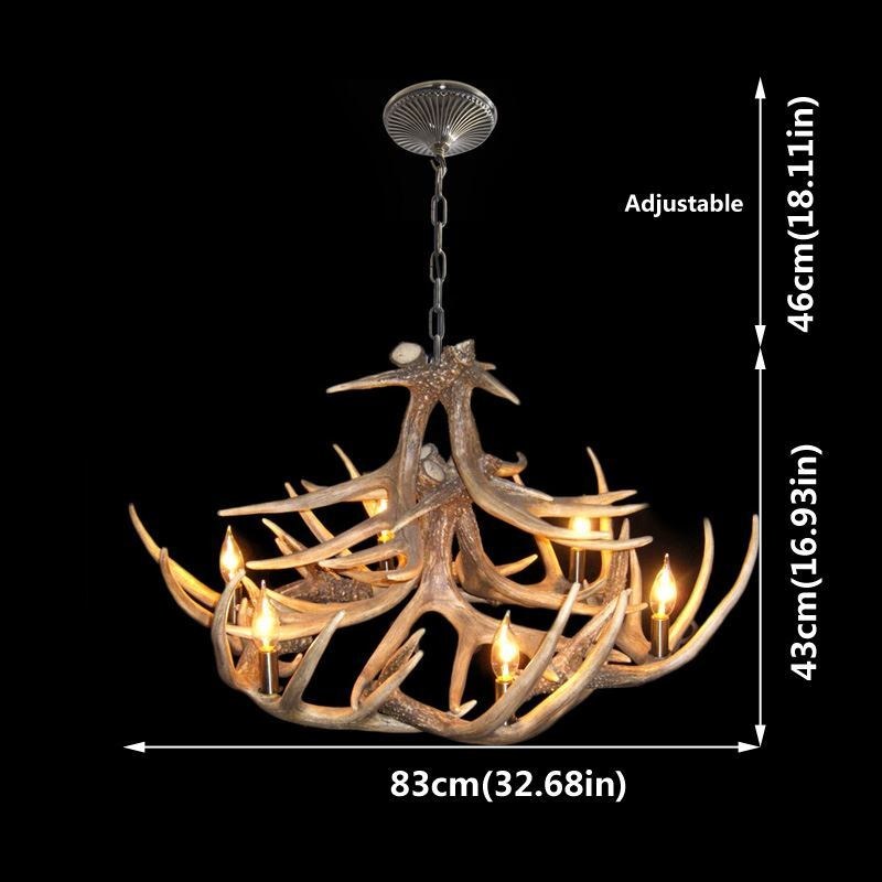 Lighting Ceiling Lights Chandeliers Rustic Style Cascade Chandelier Artistic Antler