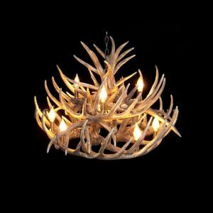 Rustic Style Cascade Chandelier Artistic Antler Chandelier Antler Lighting with 9 Lights  Antler Color Dining Room Lighting Ideas Living Room Bedroom Lighting