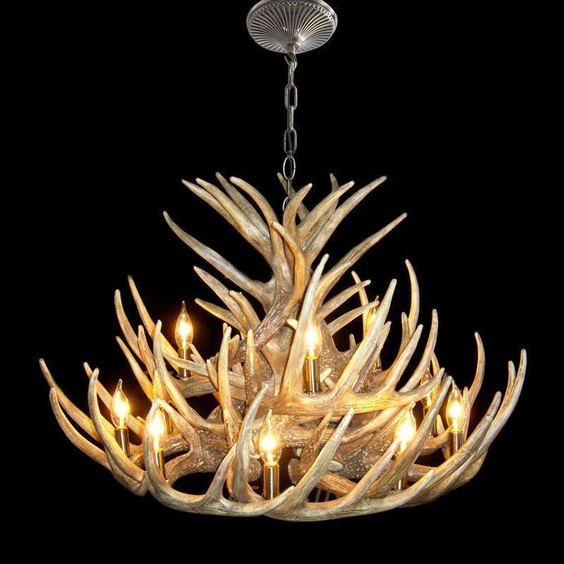 lighting ceiling lights chandeliers rustic style cascade chandelier artistic antler chandelier antler lighting - Antler Chandelier
