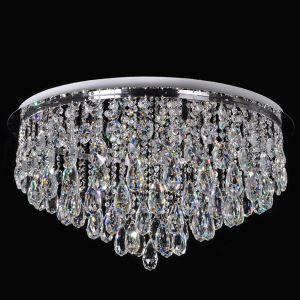 Crystal Ceiling Light LED Modern Contemporary Living Room Dining Room Crystal Metal Controllor included Energy Saving