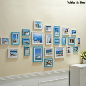 Mediterranean Style Wood Wall Frame Collection  - Set of 23 Pieces