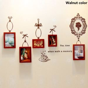 Modern Wood Wall Frame Collection  - Set of 5 Pieces