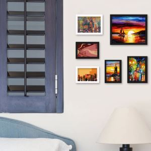 Rural Style Wood Wall Frame Collection  - Set of 6 Pieces