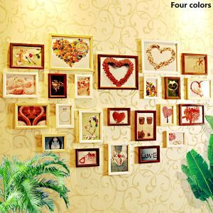 European Style Wood Wall Frame Collection  - Set of 23 Pieces