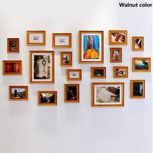 European Style Wood Wall Frame Collection  - Set of 19 Pieces