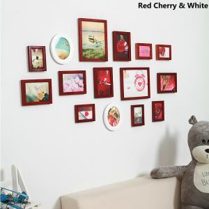 American Countryside Wood Wall Frame Collection  - Set of 15 Pieces(Pictures Not Included)