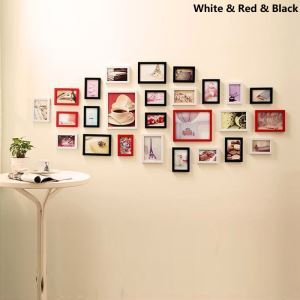 Wood Wall Frame Collection  - Set of 26 Pieces(Pictures Not Included)