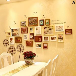 Wood Wall Frame Collection  - Set of 23 Pieces