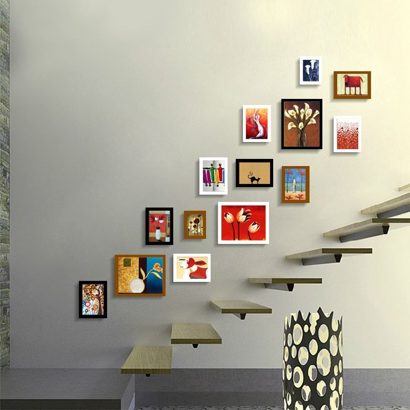 Modern Wall Frame Decor : Home decor picture frames modern wood wall frame