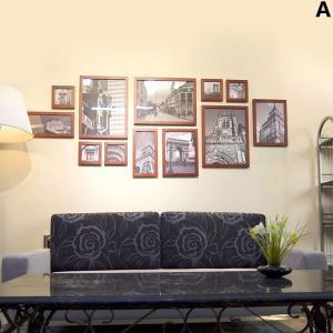 Wood Wall Frame Collection  - Set of 12 Pieces