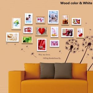 Modern Wood Wall Frame Collection  - Set of 15 Pieces