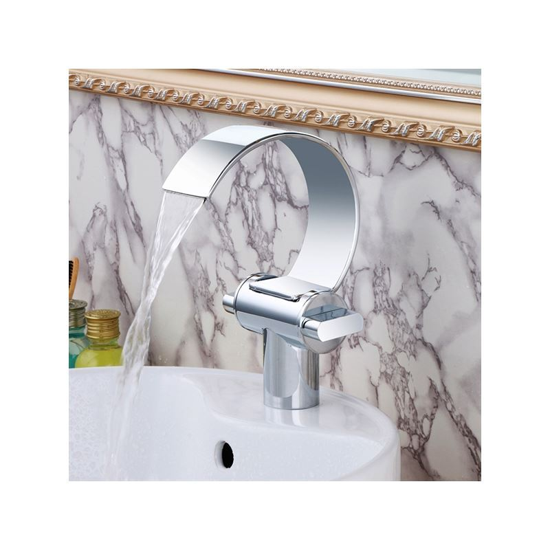 Bath Faucets Uk in stock) (uk direct)modern chrome finish single installation hole