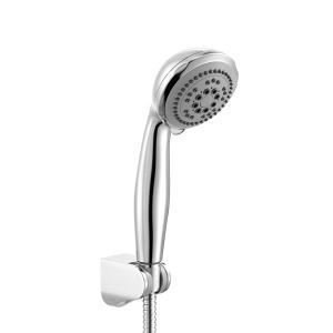 (In Stock) Five Function Circle Chrome Finish ABS Handle Shower Head