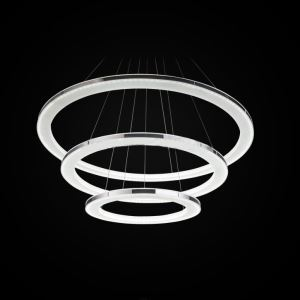 Modern Simple Acrylic LED Circle Pendant Light 3 Tiers Energy Saving